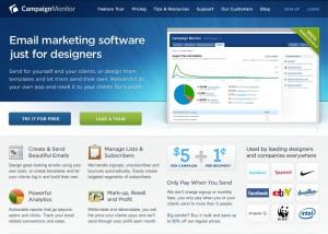 A Campaign Monitor e-mil marketing szolgáltatás
