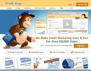 A MailChimp e-mail marketing szolgáltatás