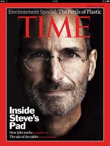 Steve Jobs a Time magazin címlapján -- az iPaden